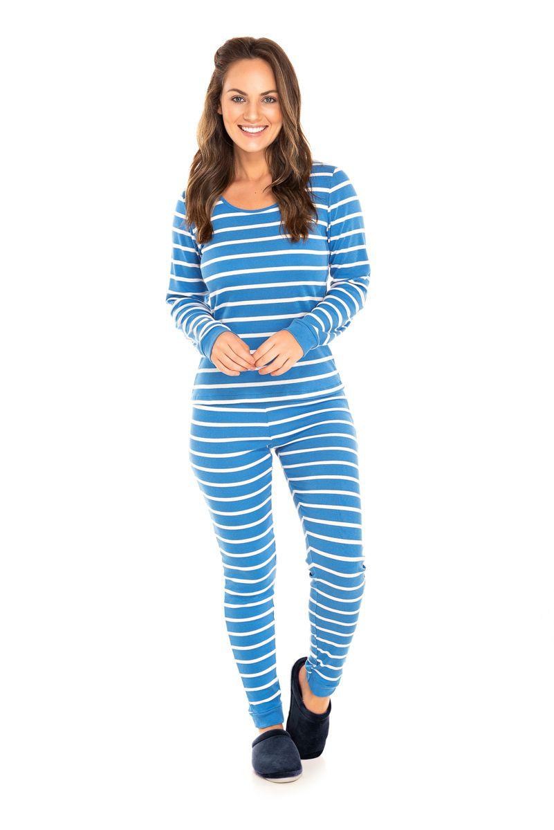 Pijama  Adulto Feminino Azul
