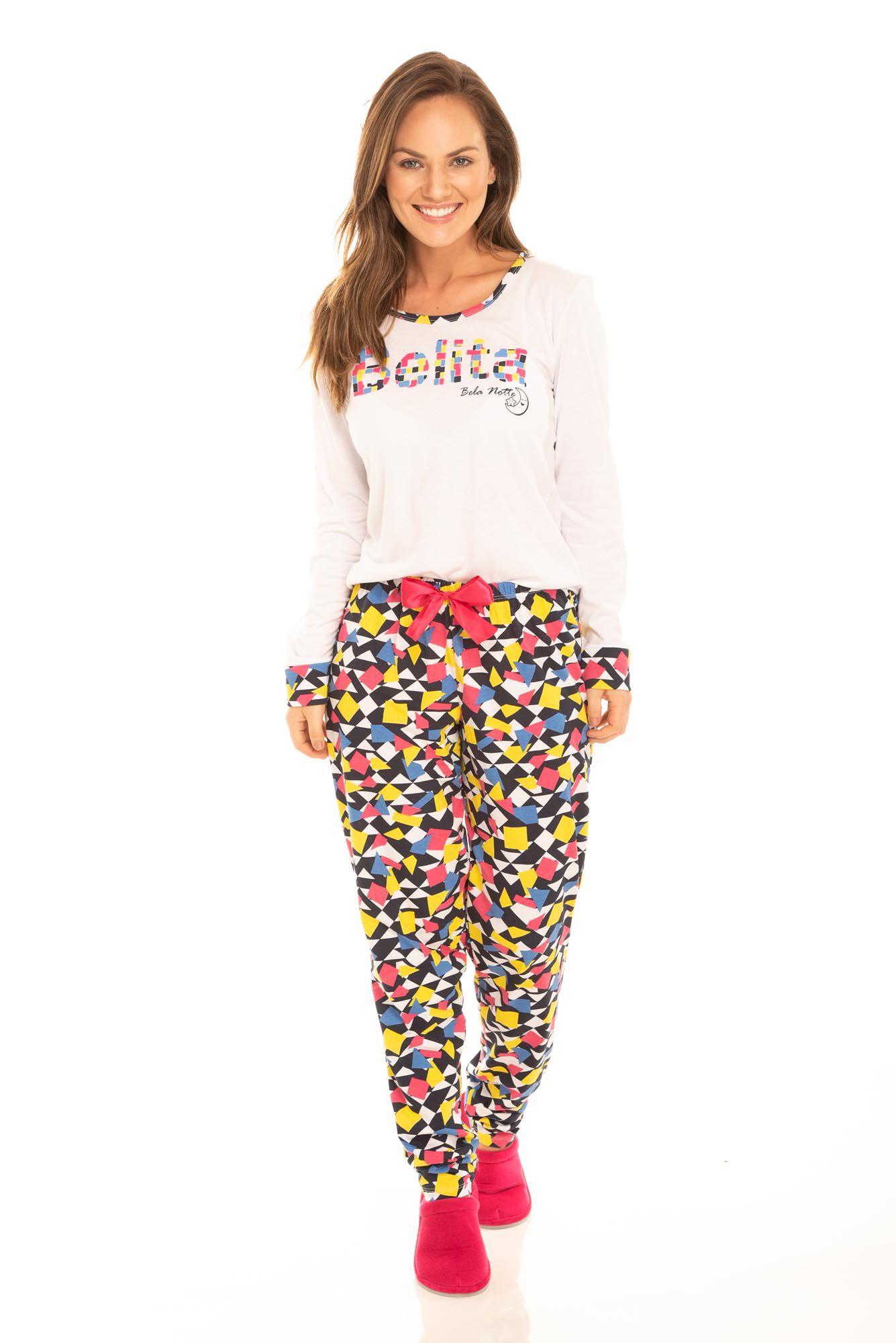 Pijama Adulto feminino Belita Colorido
