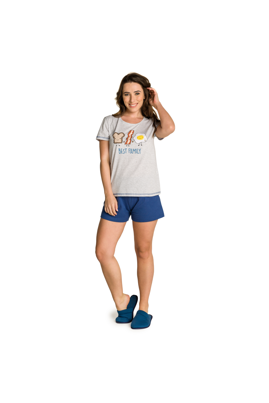 001/K - Pijama Adulto Feminino Best Family