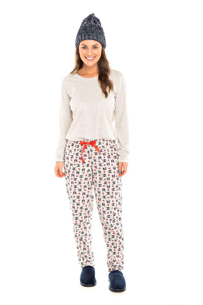 Pijama  Adulto Feminino Bulldog