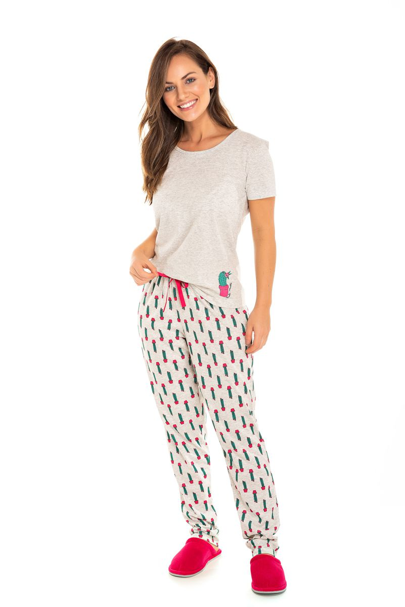 Pijama Adulto Feminino Cactos