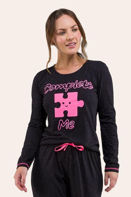 002/B -  Pijama  Adulto Feminino - Casal Complete