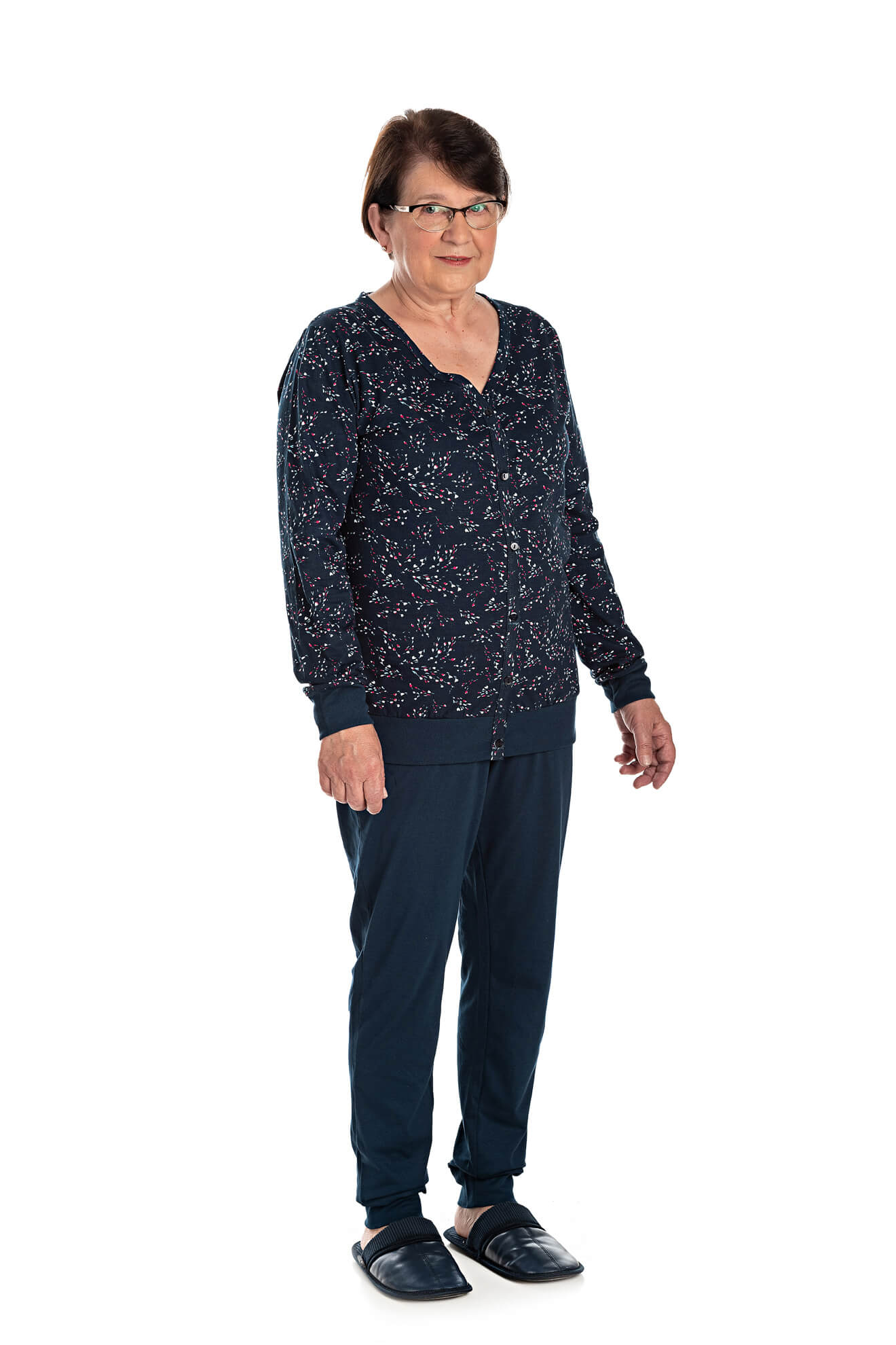 010/B - Pijama Adulto Feminino Estampa Rotativa