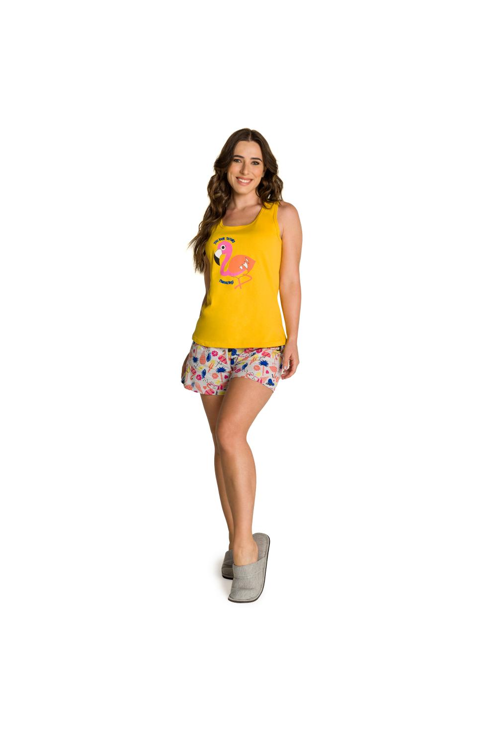 234/D  - Pijama Adulto Feminino Flamingo