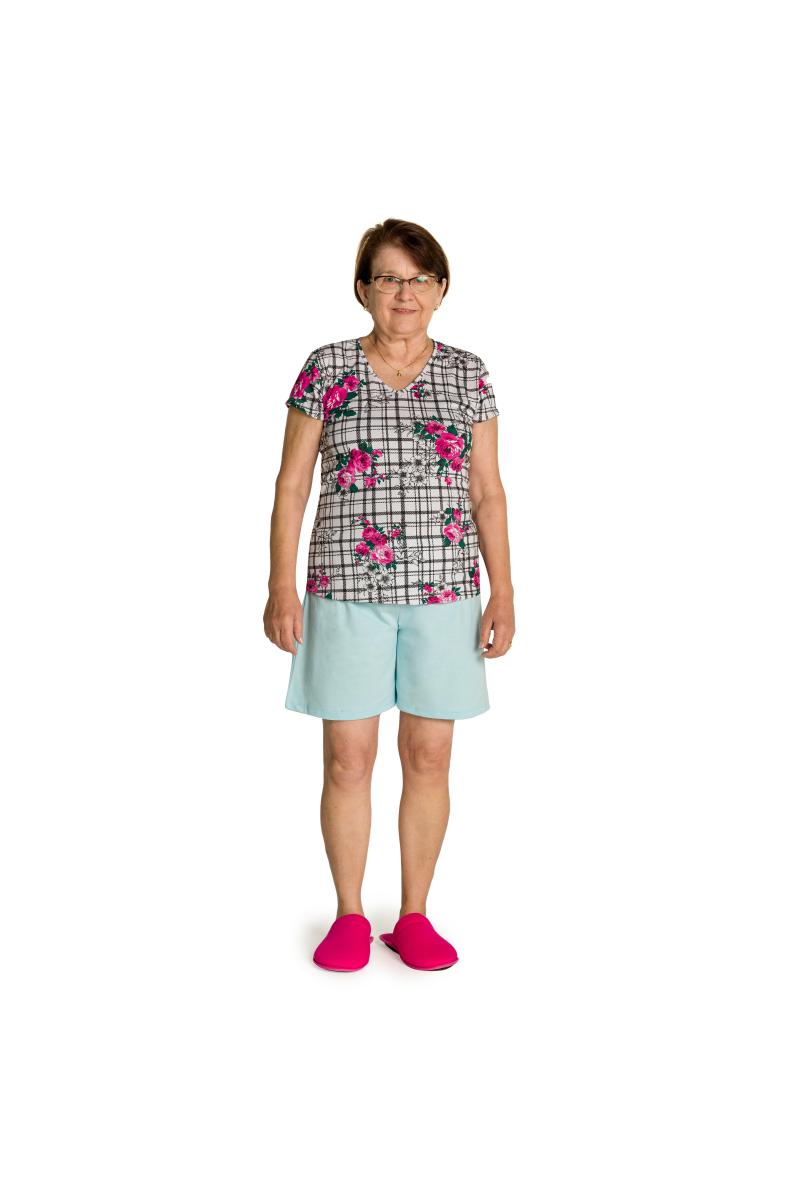 236/C - Pijama Adulto Feminino Floral