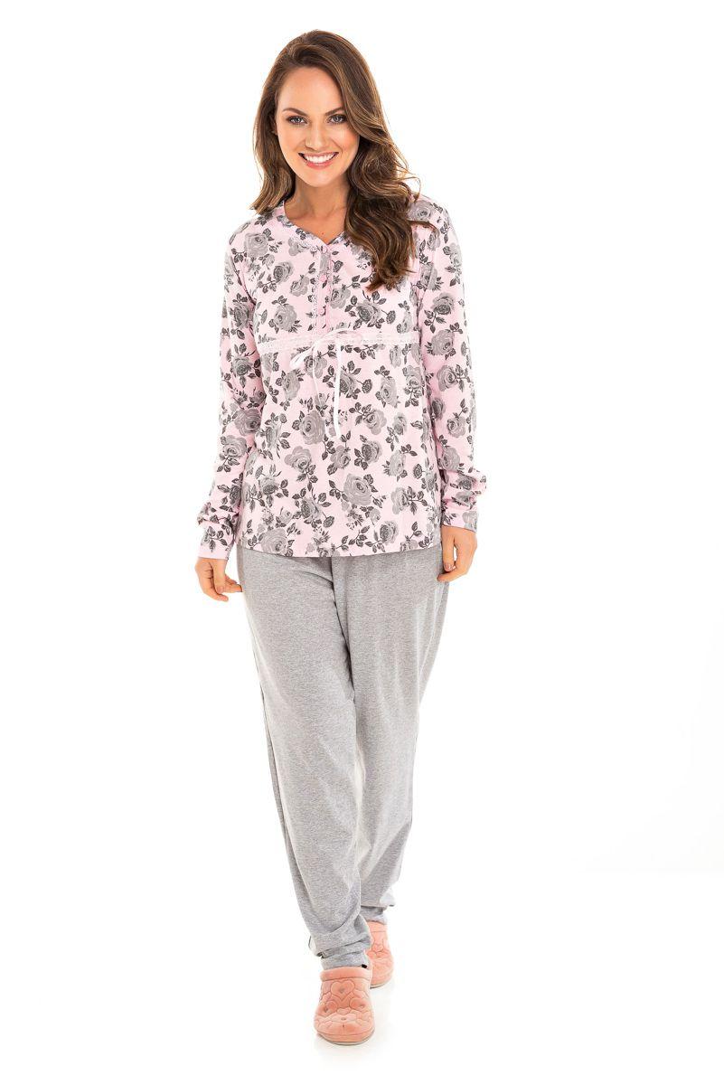 Pijama Adulto Feminino Gestante Rosa