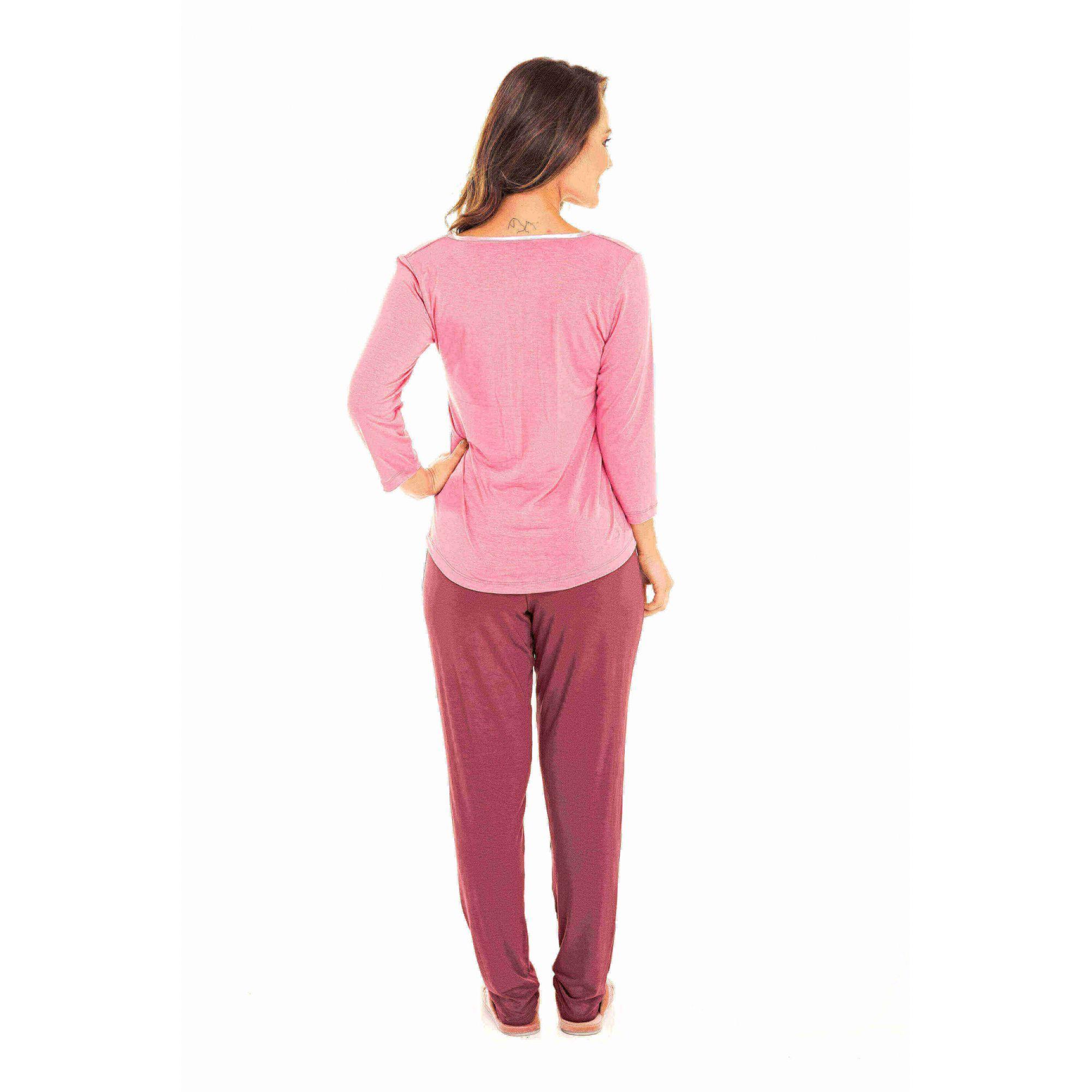 089/B - Pijama Adulto Feminino Glamour