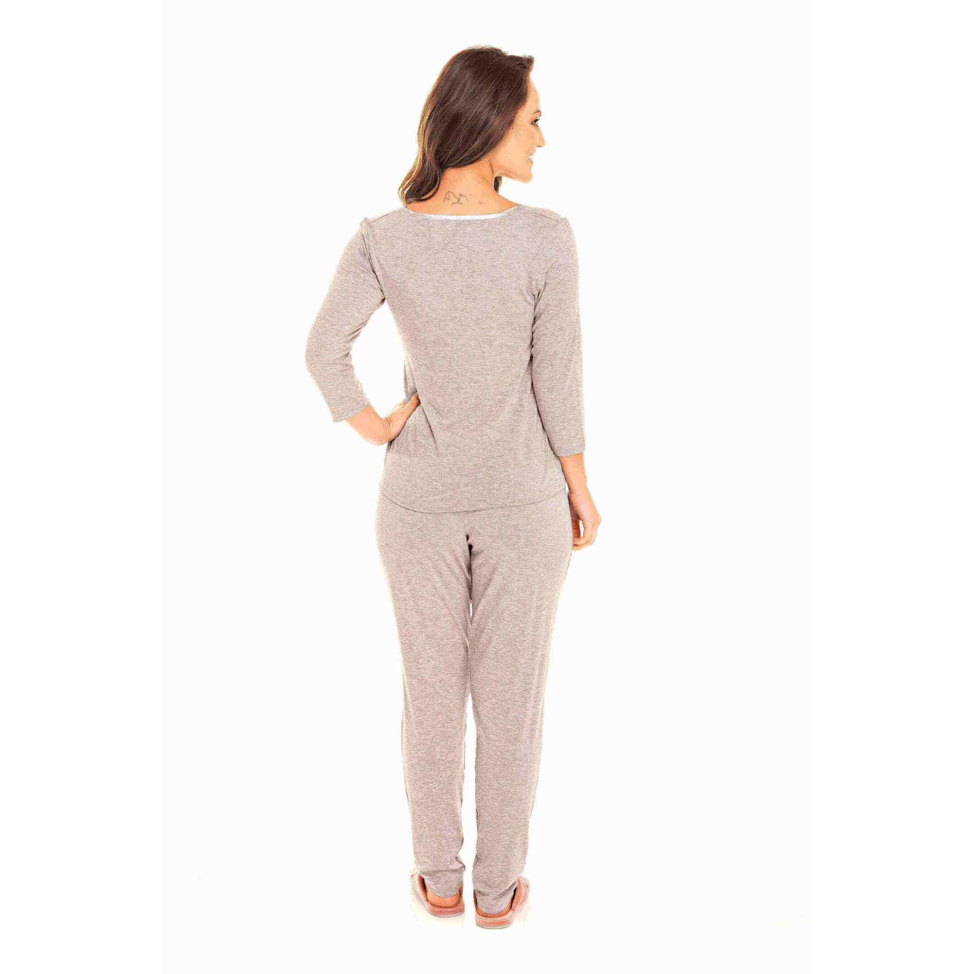 Pijama Adulto Feminino Glamour Mescla