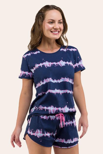 012/A - Pijama Adulto Feminino Tie Dye