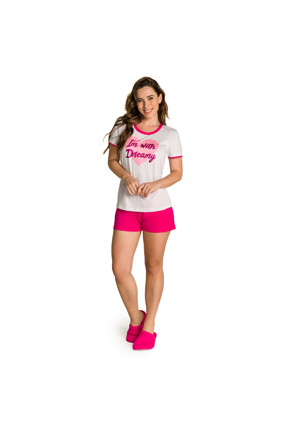 005/F - Pijama Adulto Feminino I'm With Dreamy