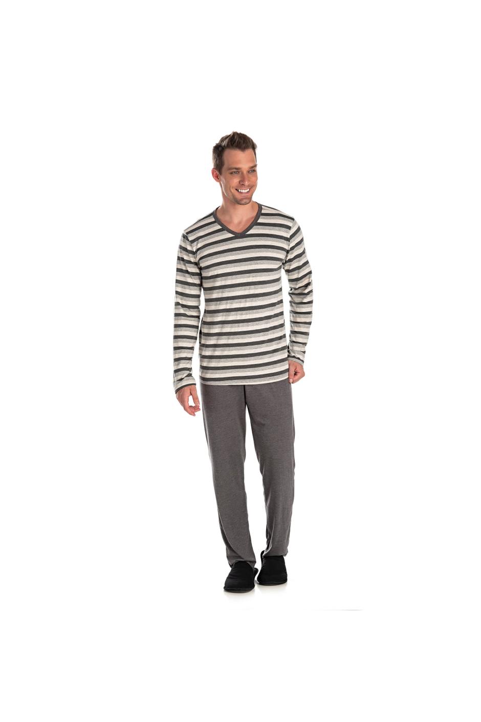 014/A - Pijama Adulto Masculino Listrado