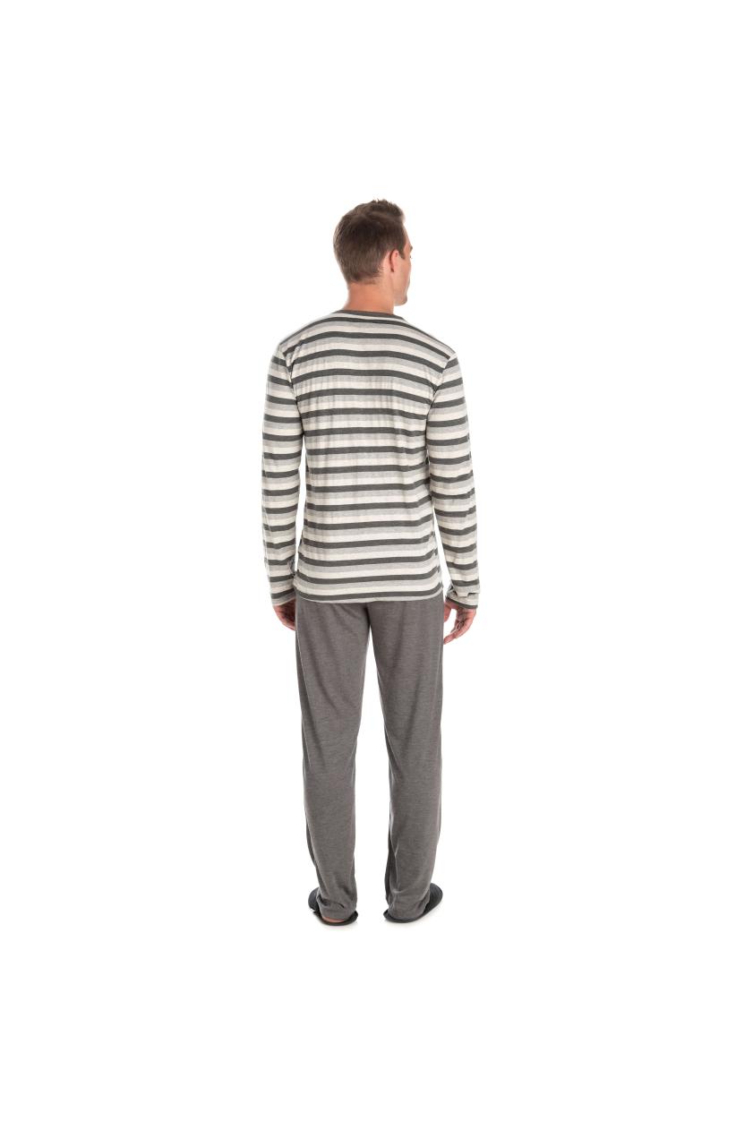 024/A - Pijama Adulto Masculino Listrado