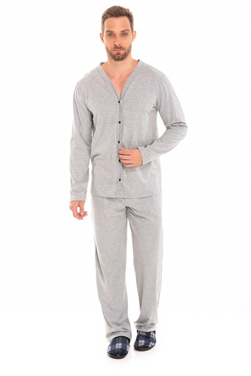 Pijama Adulto Masculino Aberto Mescla