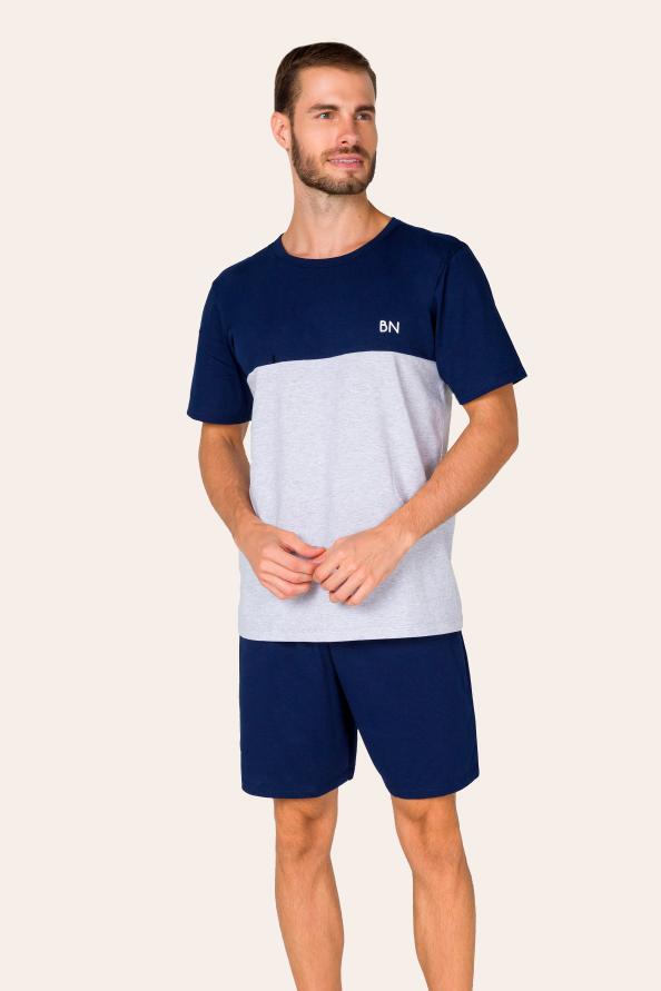 Pijama Adulto Masculino com Recorte
