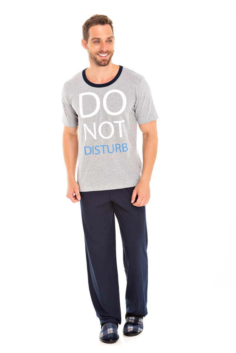 087/B - Pijama Adulto Masculino Do Not Disturb