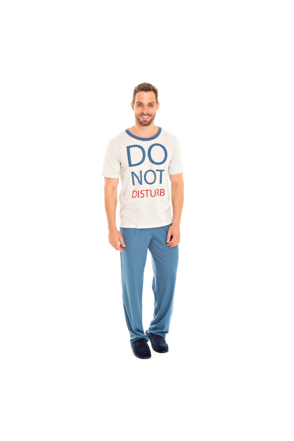 Pijama Adulto Masculino Do Not Disturb