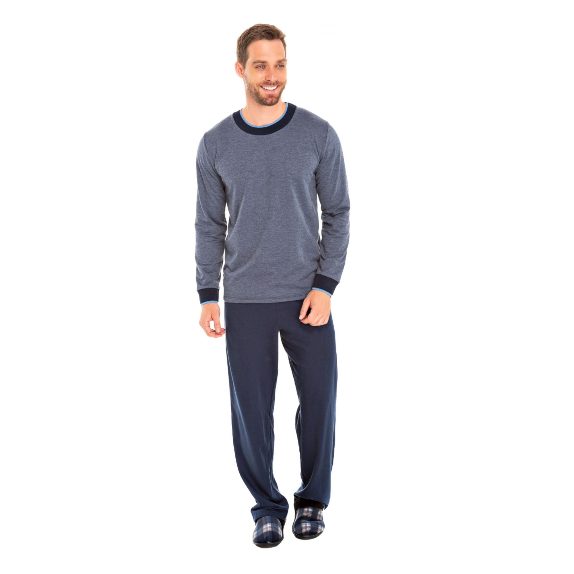 005/E - Pijama Adulto Masculino Moletinho