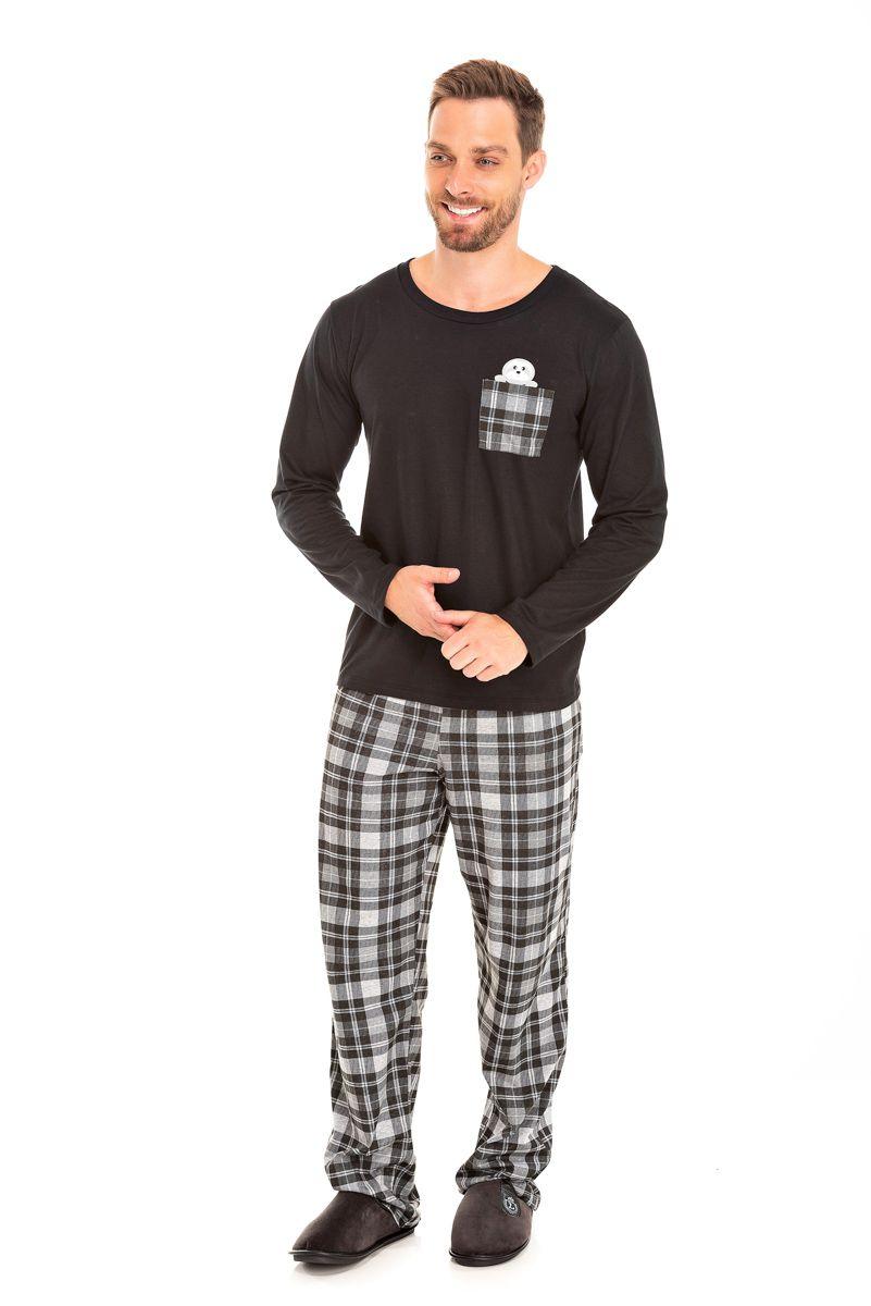 Pijama Adulto Masculino Xadrez