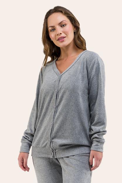 016/B - Pijama Adulto Plush Aberto