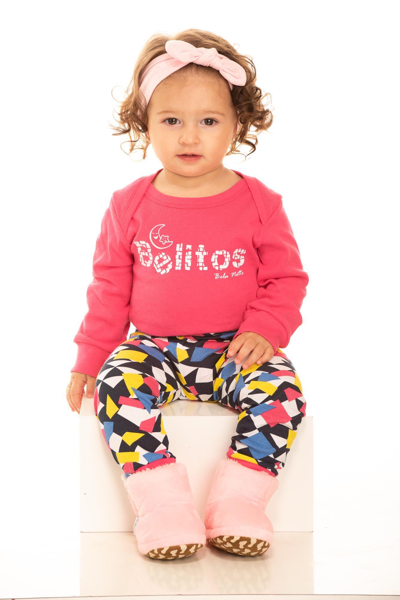 Pijama Bebê Feminino Belitos Colorido
