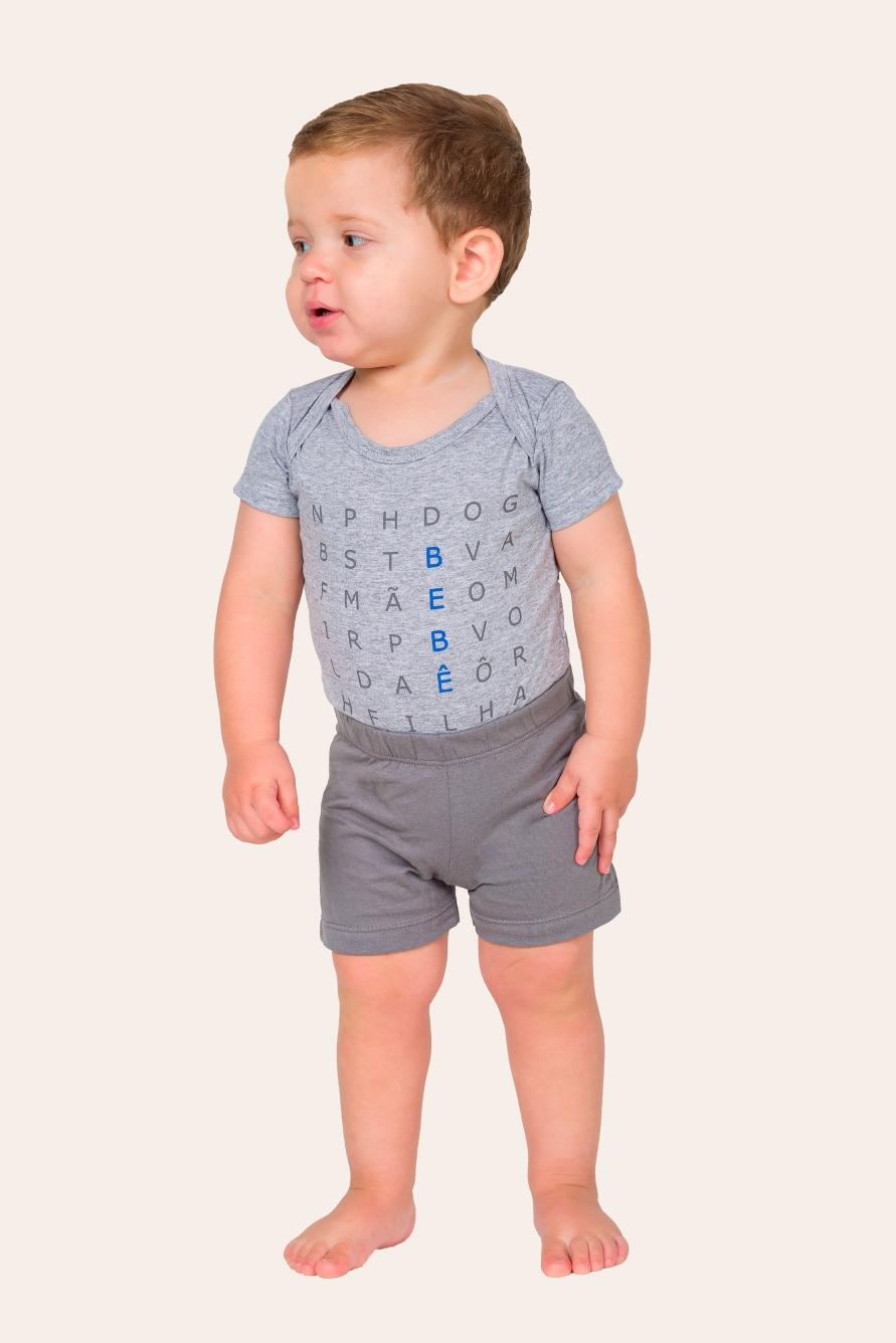 039/M - Pijama Bebê Masculino Caça-palavras - Bebê