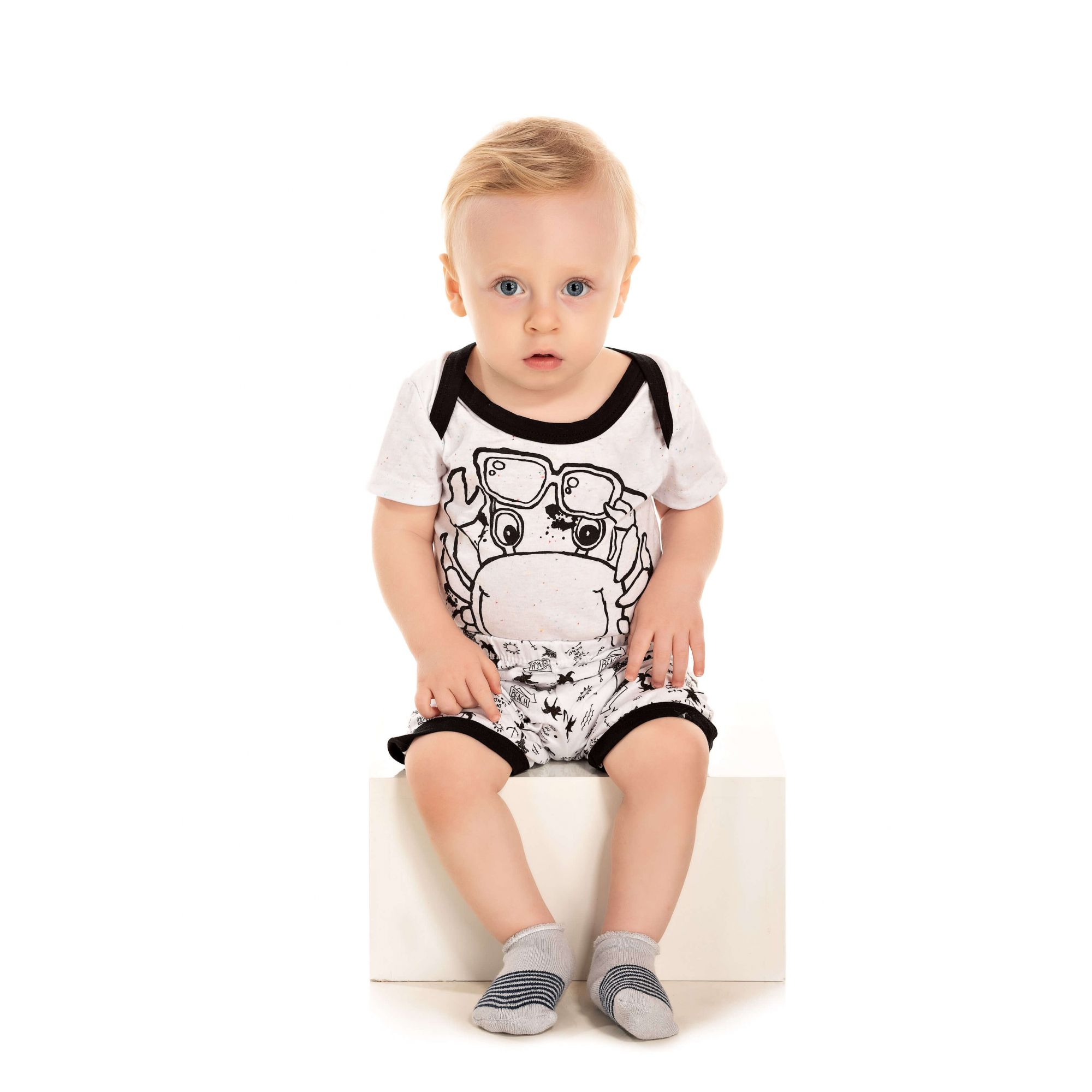 017 - Pijama Bebê Masculino Siri