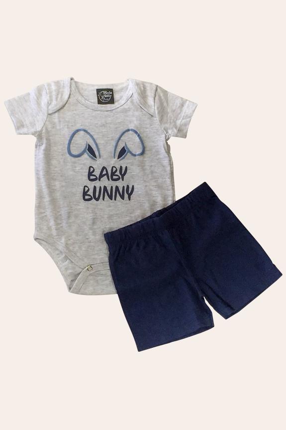 004/D - Pijama de Páscoa Para Família - Bebê Unissex