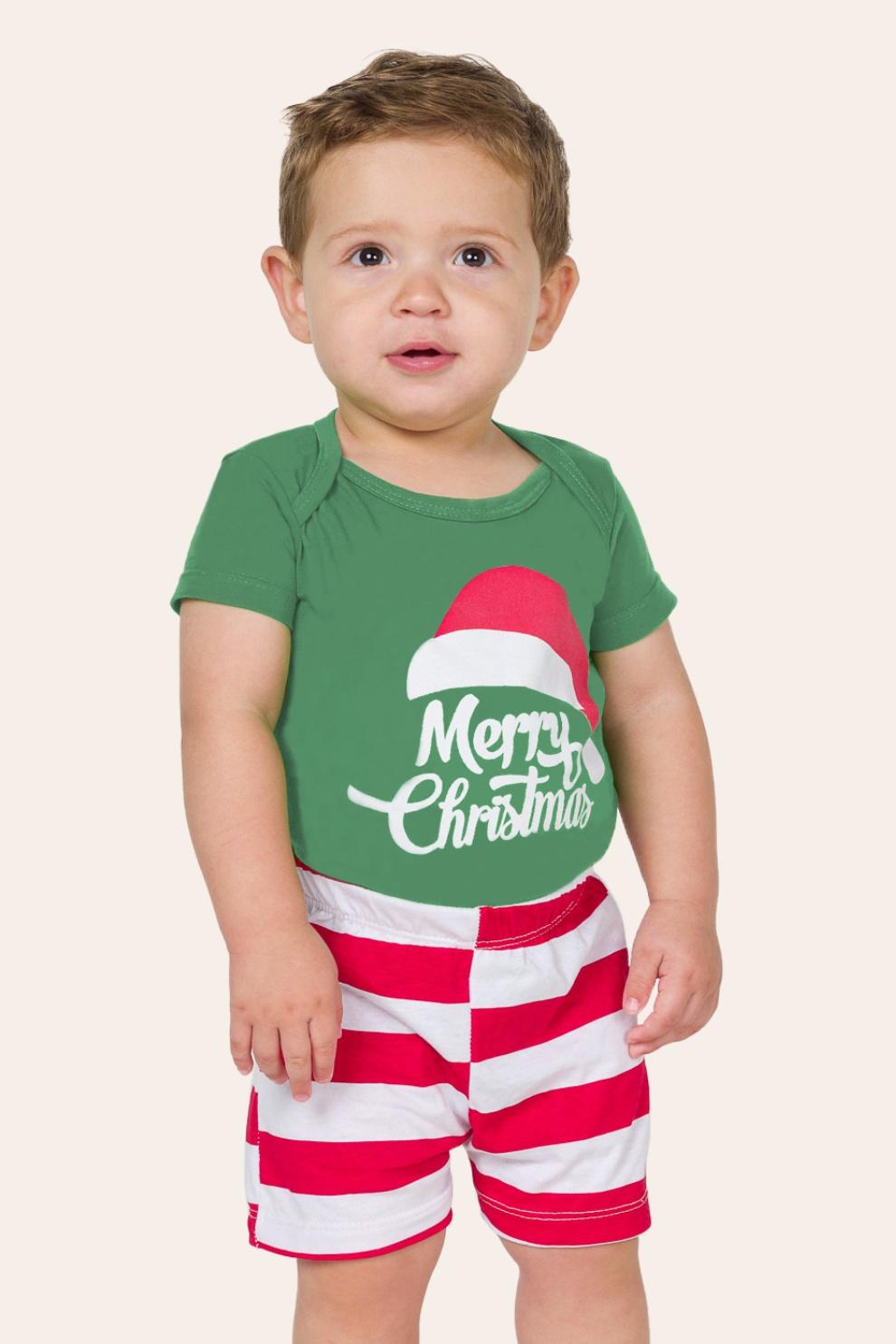 047/G - Pijama de Natal Merry Christmas para Família - Bebê Unissex