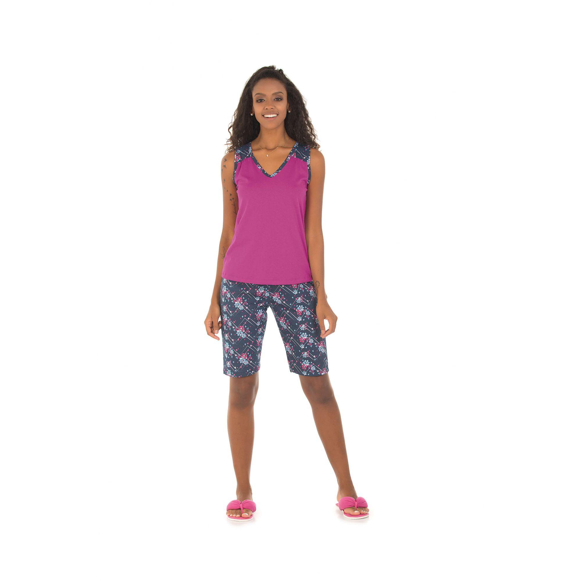 Pijama Feminino Adulto Capri