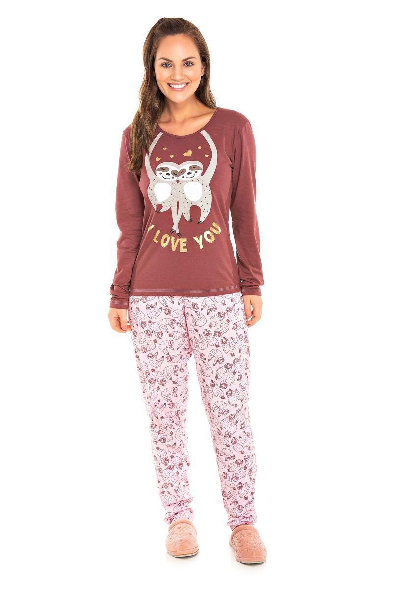 Pijama Feminino Bicho Preguiça
