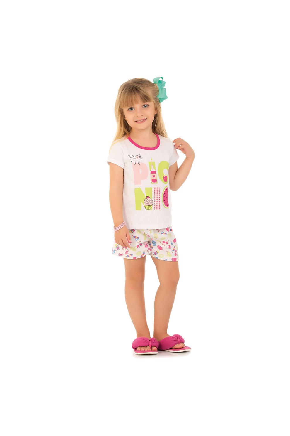 Pijama Feminino Infantil Pic Nic