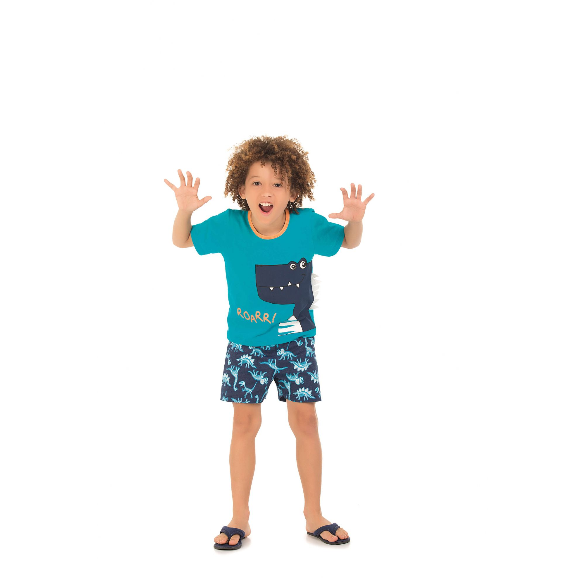 Pijama Infantil Curto Dinossauro