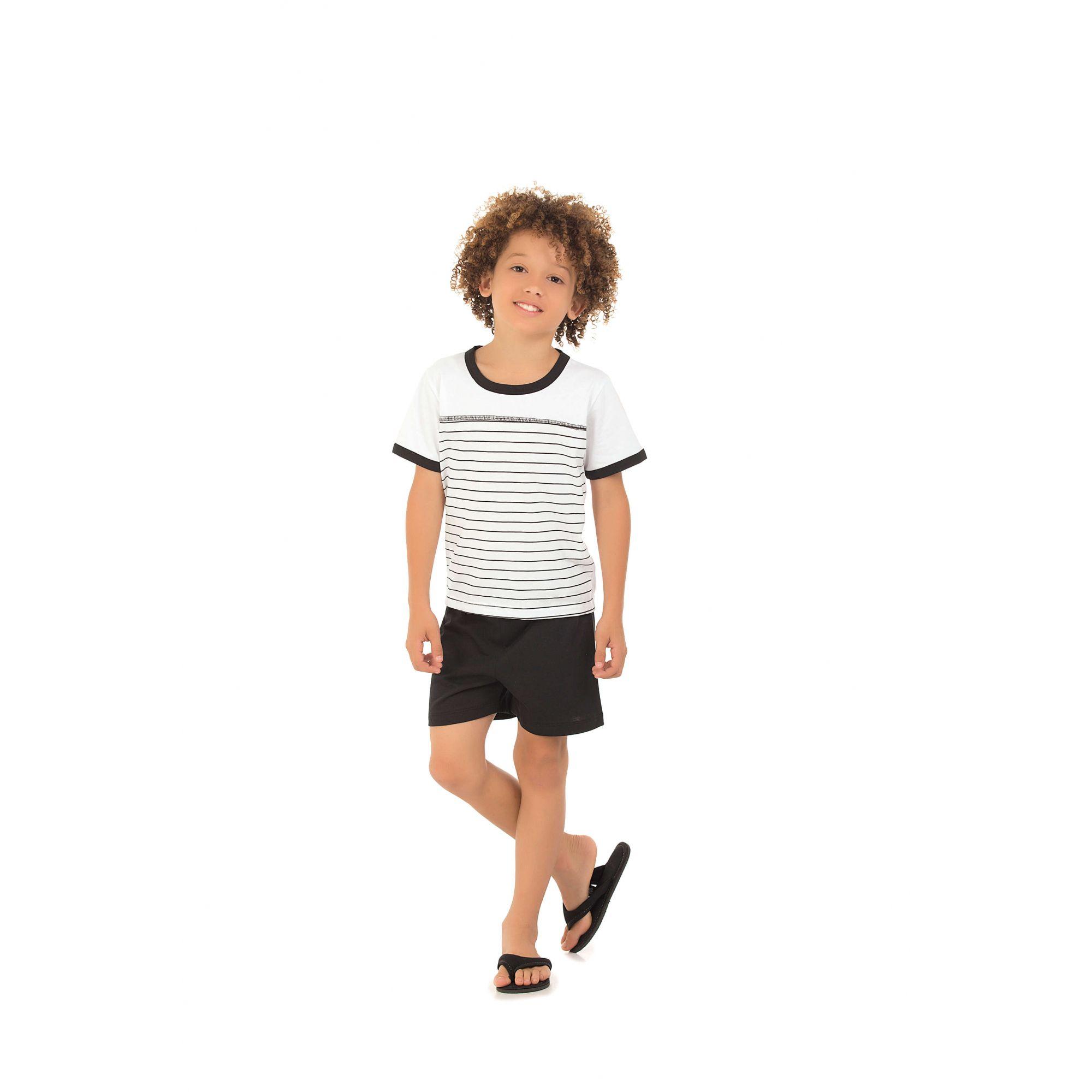 Pijama Infantil Curto Listrado