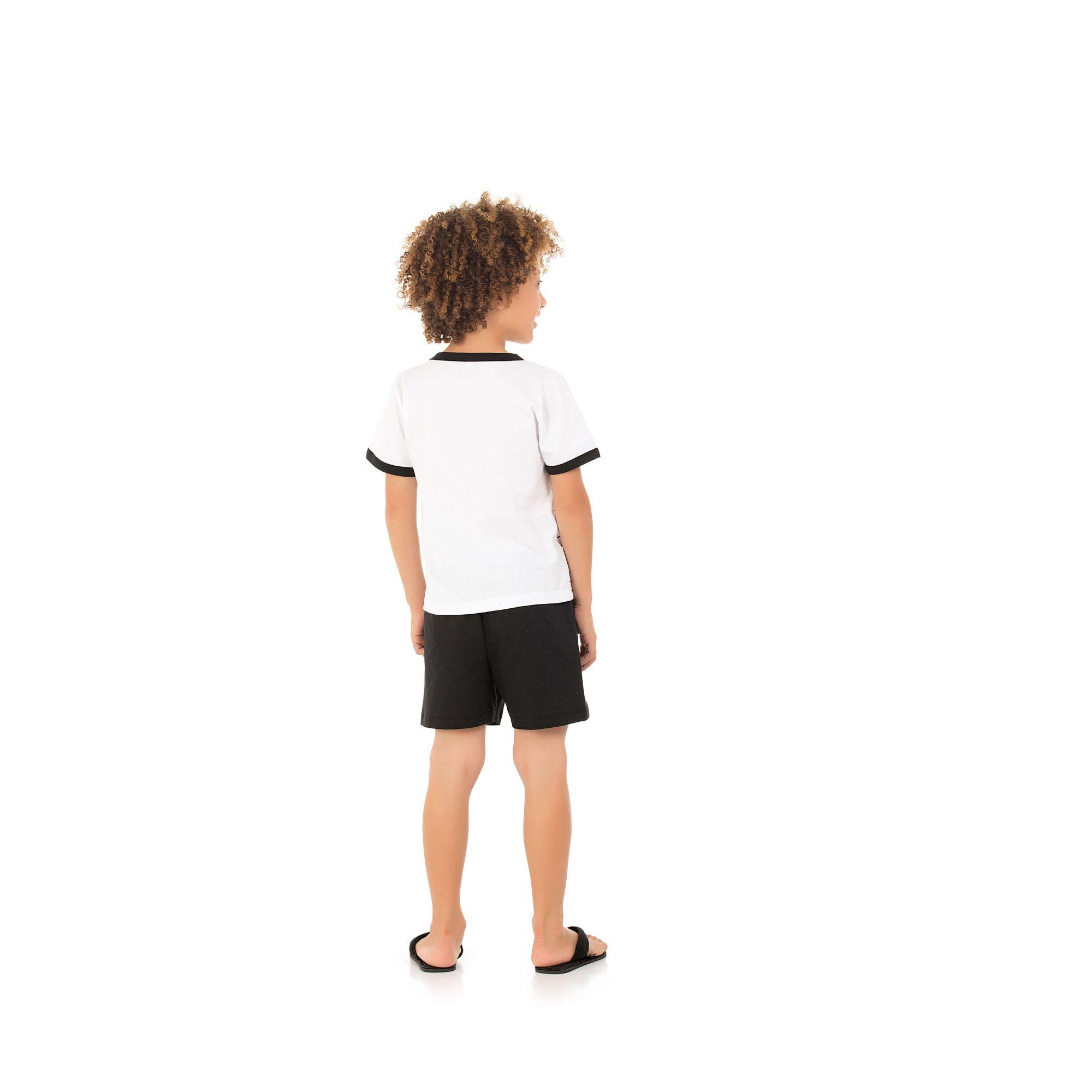 218/D - Pijama Infantil Curto Listrado