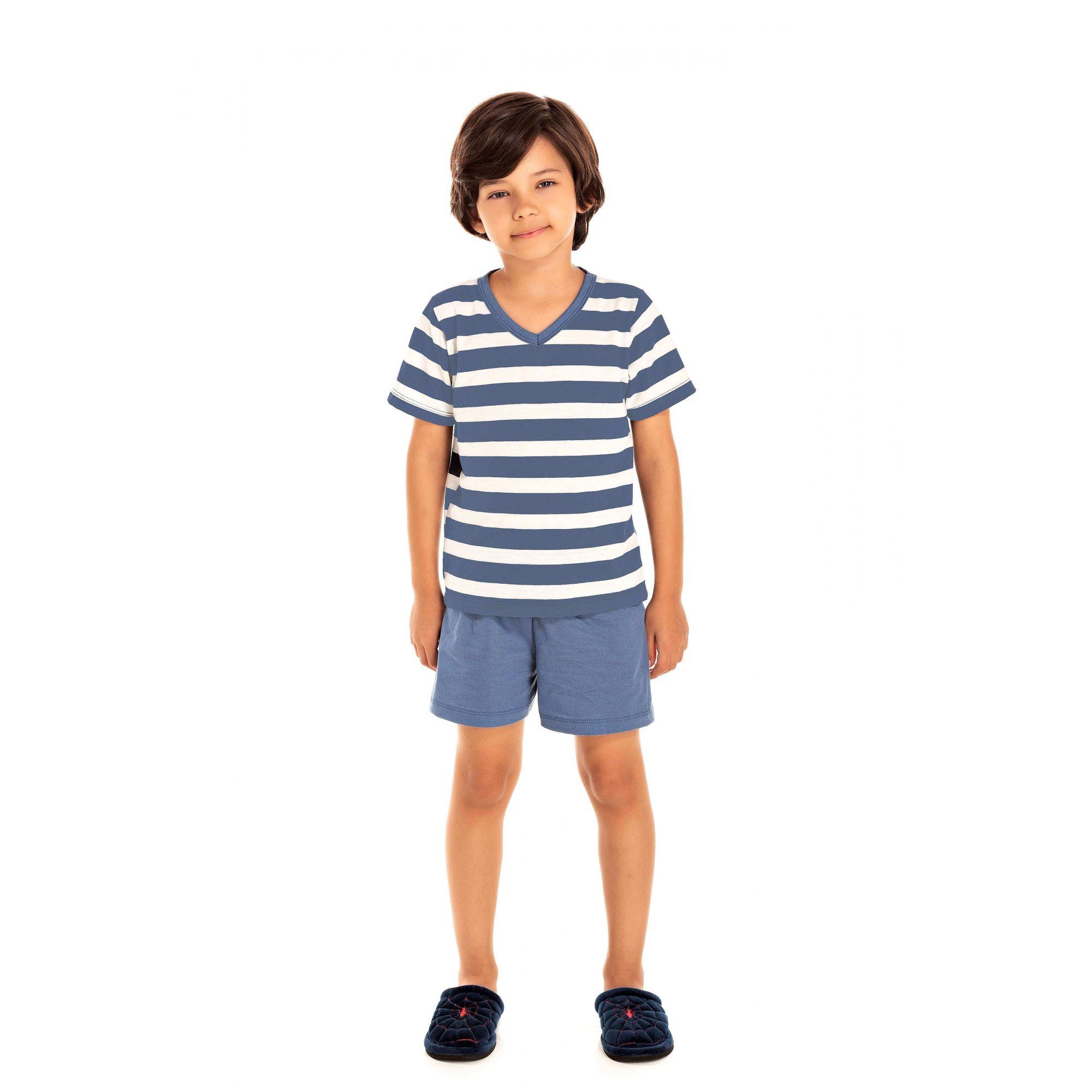 044 - Pijama Infantil Curto - Pai e Filho