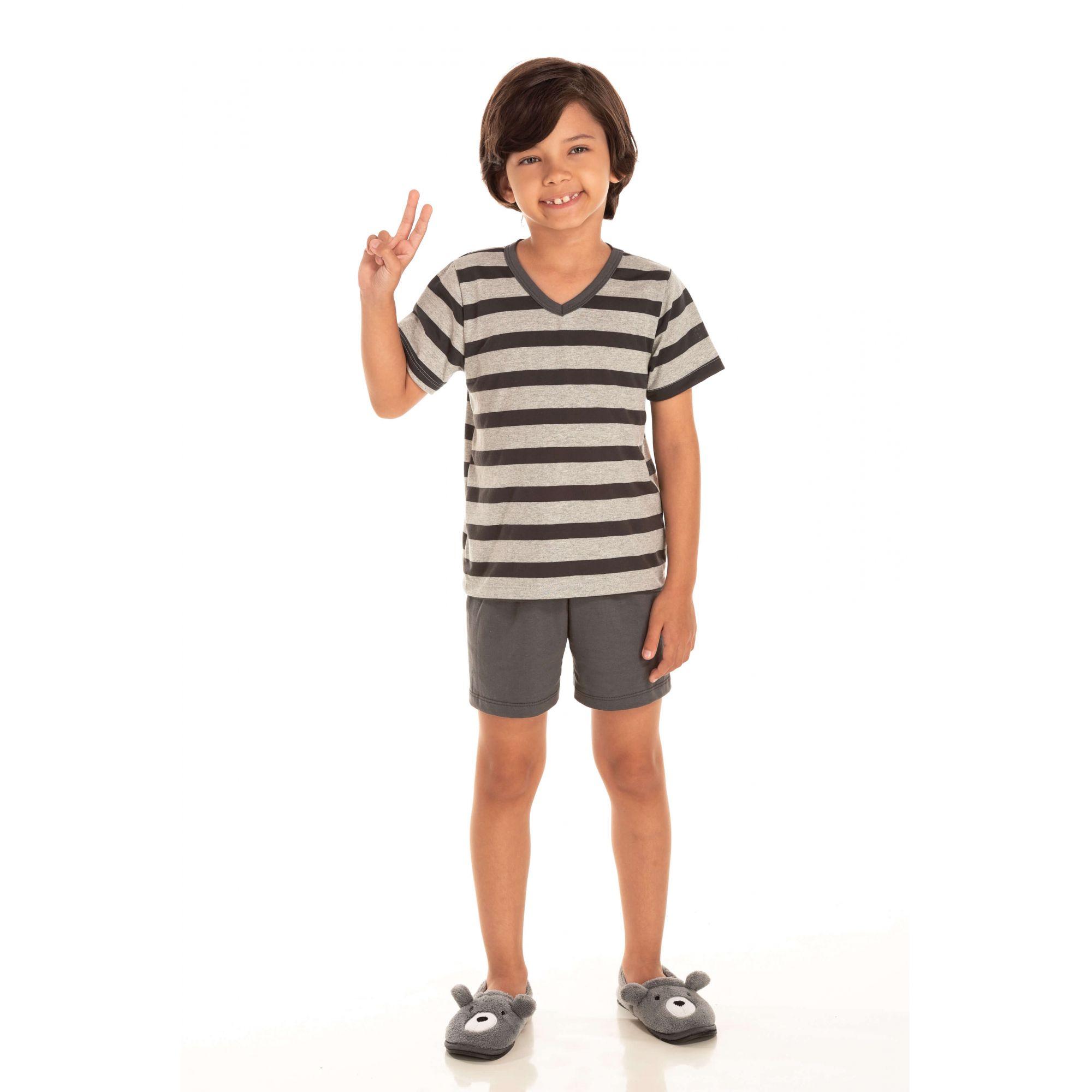 222/A - Pijama Infantil Curto - Pai e Filho