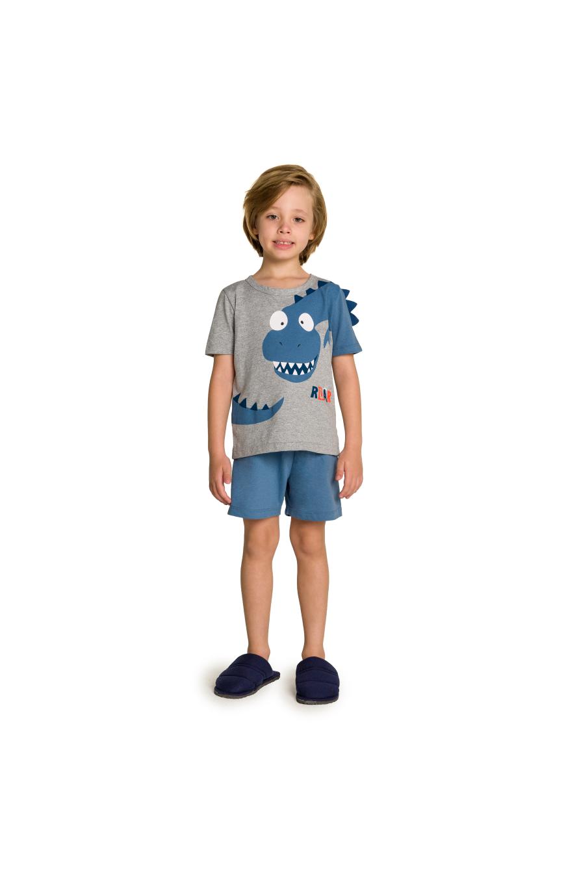 010/F - Pijama Infantil Dinossauro Interativo com Feltro