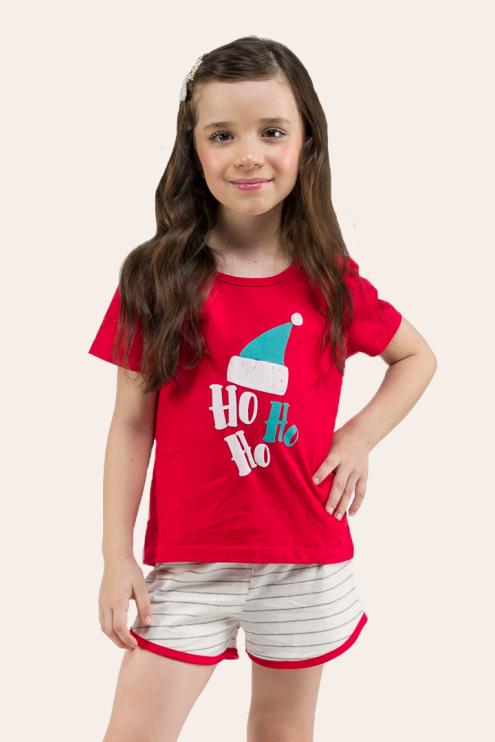 001/C - Pijama De Natal Para Família - Infantil Feminino