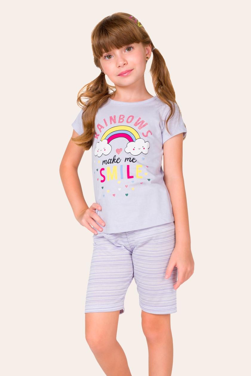 043/D - Pijama Infantil Feminino Arco-íris