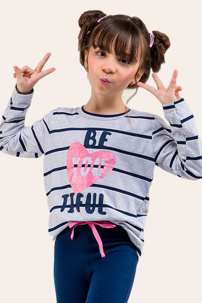 007/C - Pijama Infantil Feminino BE YOU TIFUL