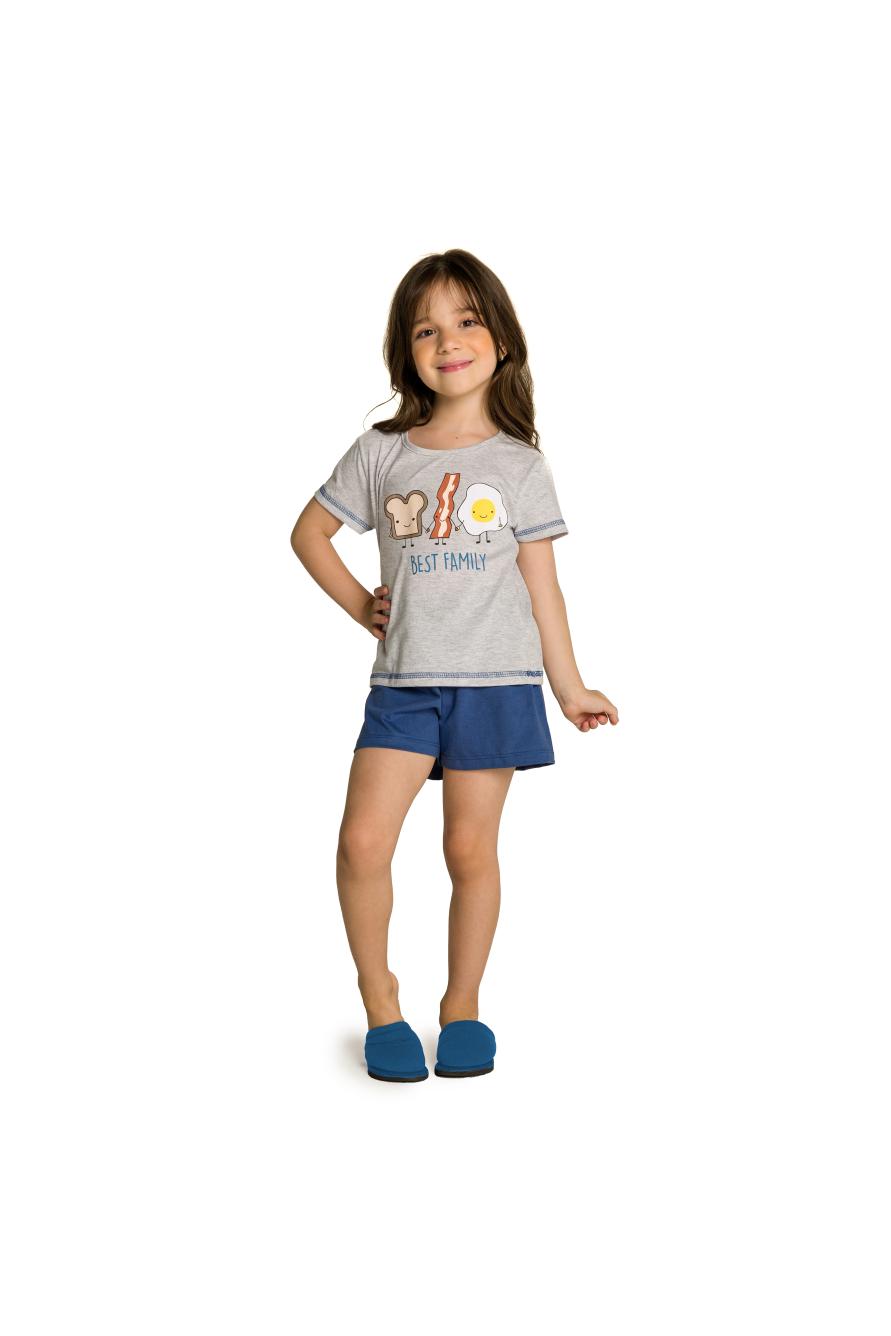 001/L - Pijama Infantil Feminino Best Family