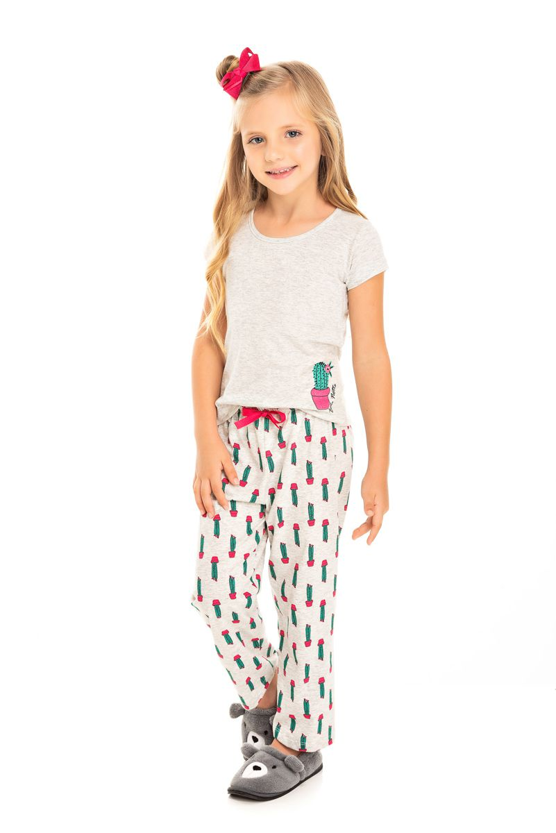 Pijama Infantil Feminino Cactos