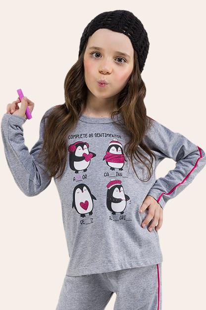 011/A - Pijama  Infantil Feminino Complete
