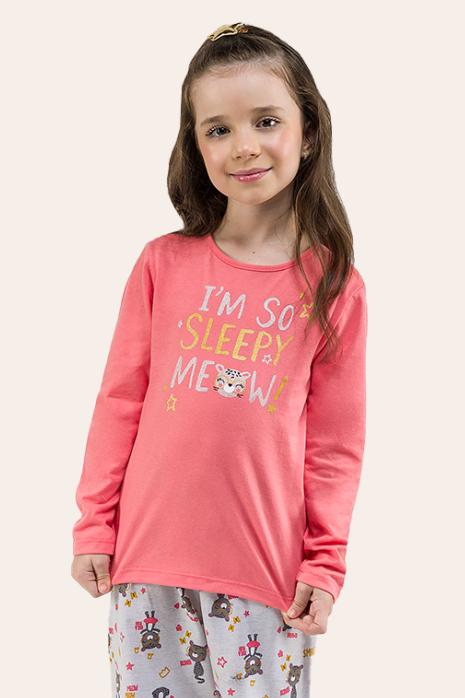 014/C - Pijama Infantil Feminino Gatinho