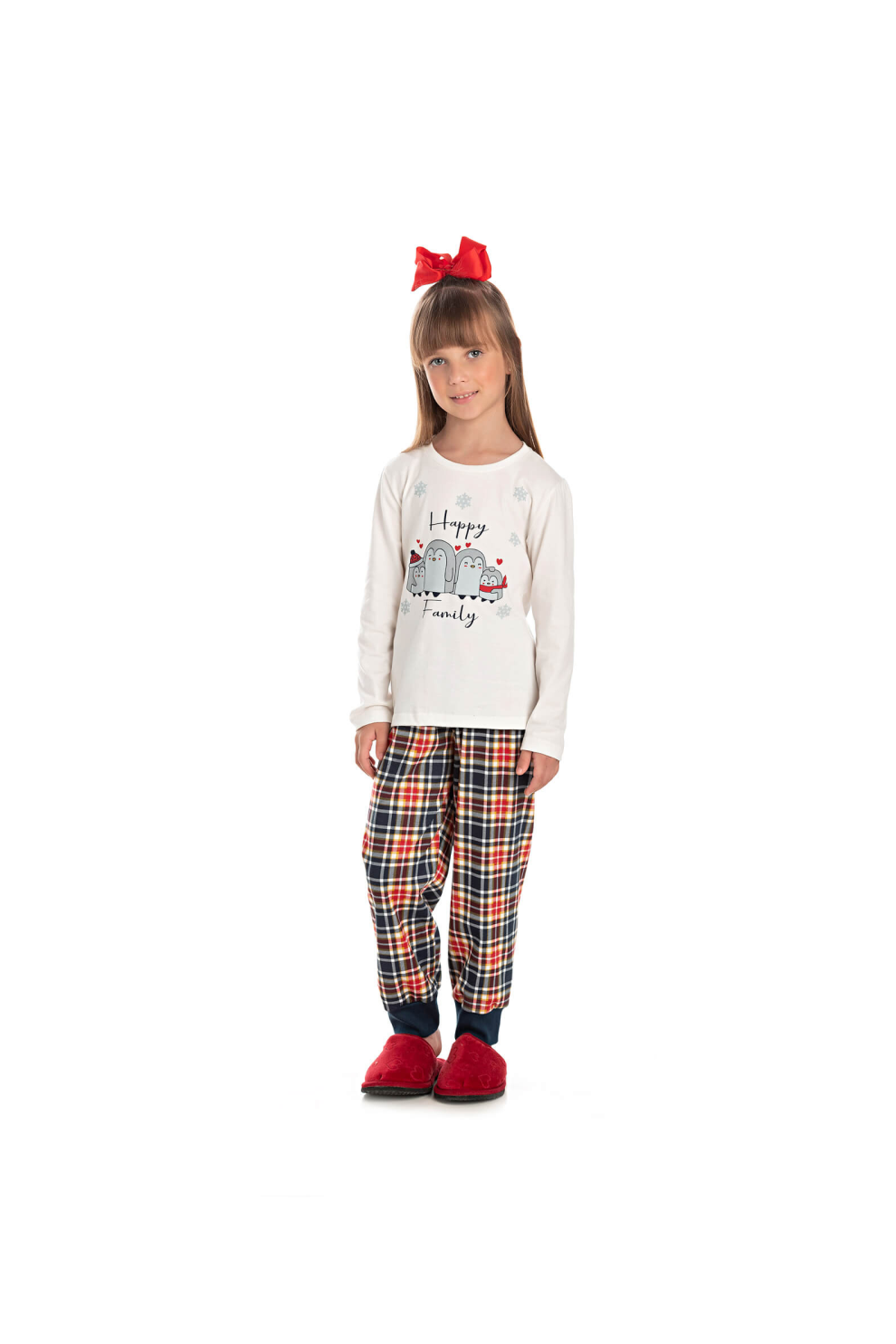 023/C - Pijama Infantil Feminino Happy Family