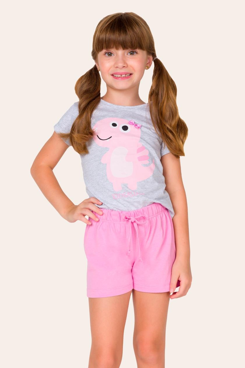 017/C - Pijama Infantil Feminino Kidsaurus - Família