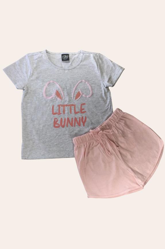 004/C - Pijama De Páscoa Para Família - Infantil Feminino