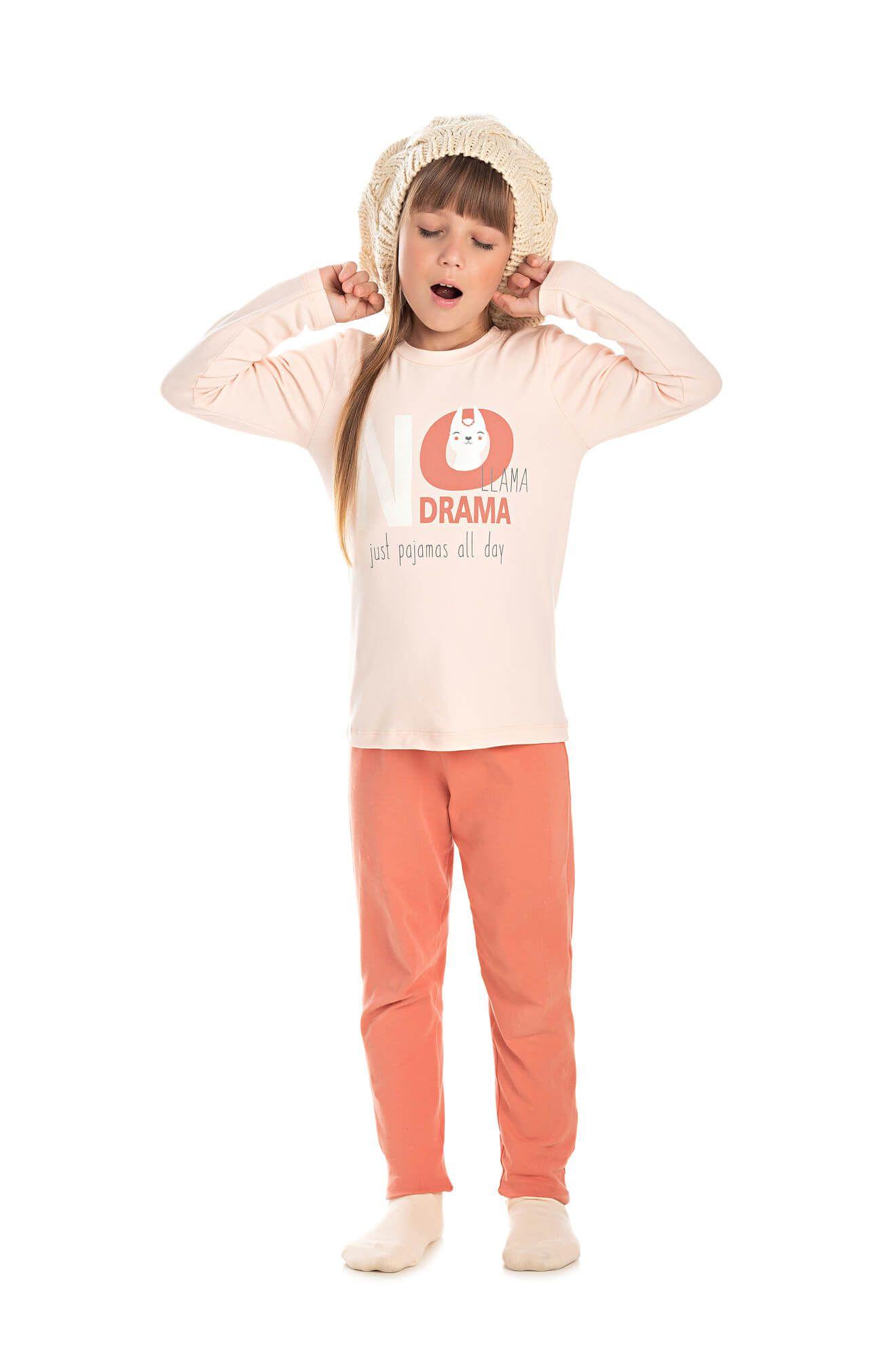 019/C - Pijama Infantil Feminino LLAMA