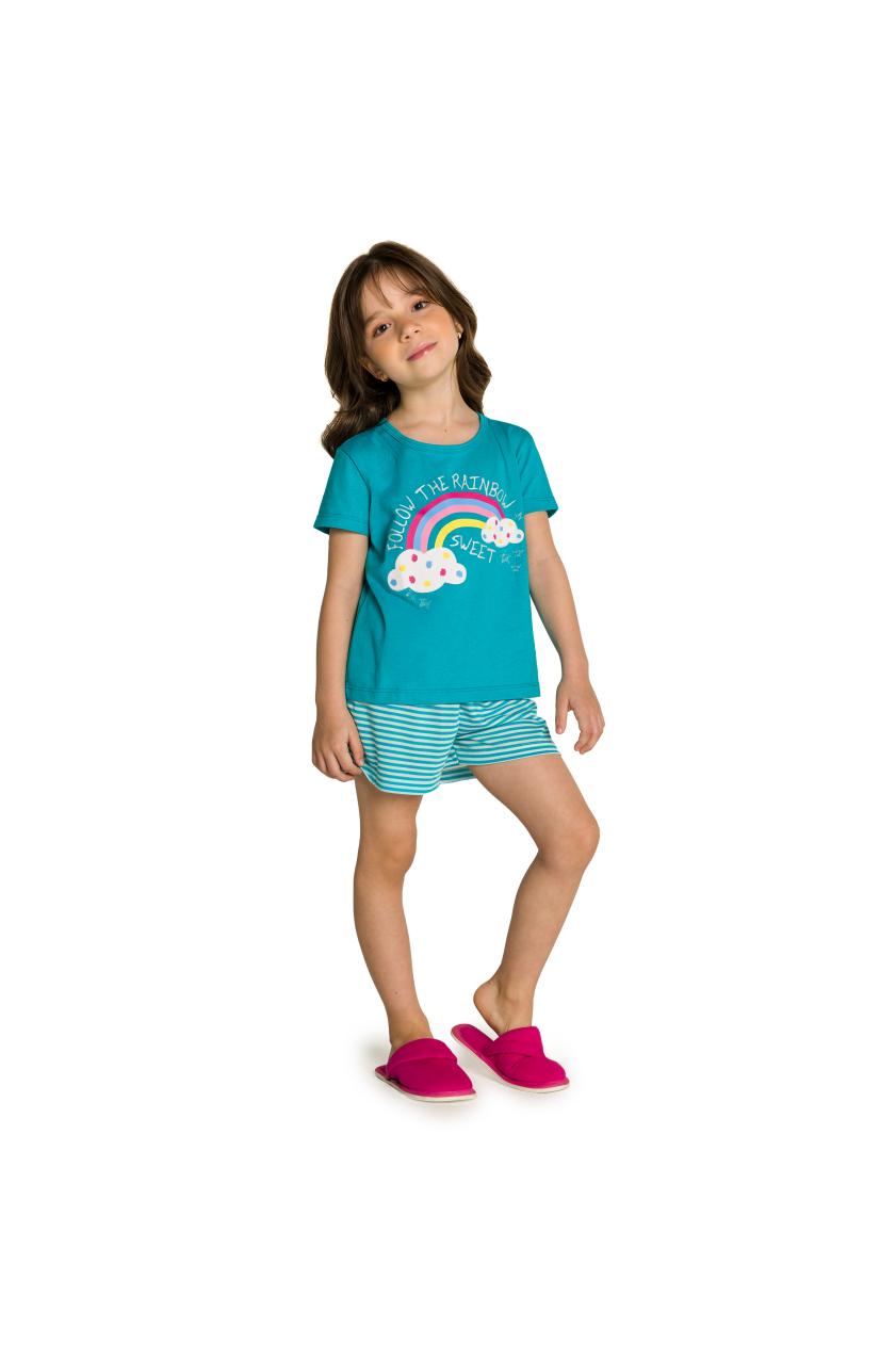 213/B - Pijama Infantil Feminino Nuvens