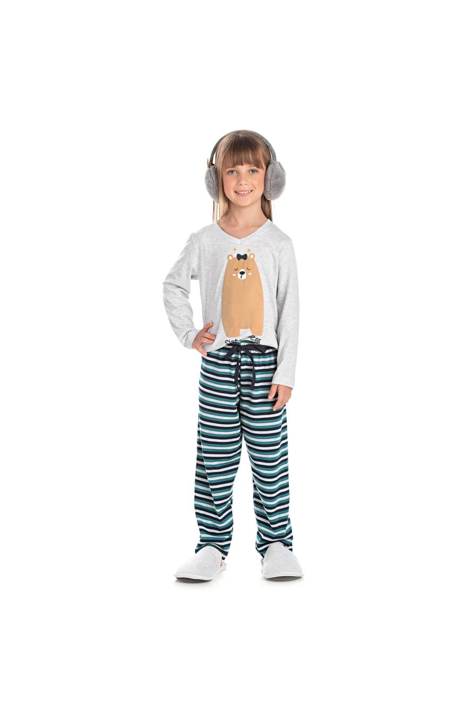 222/A - Pijama Infantil Feminino Sister Bear